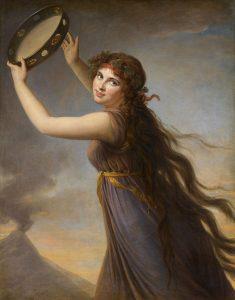 バッカスの巫女に扮したエマ・ハミルトン