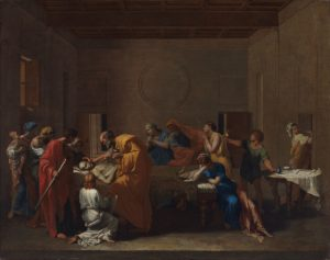 Extreme Unction. Poussin, Nicolas (French, 1594-1665). Oil on canvas, 1638-1640.