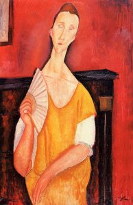 portrait-of-lunia-czechowska-with-a-fan-amedeo-modigliani