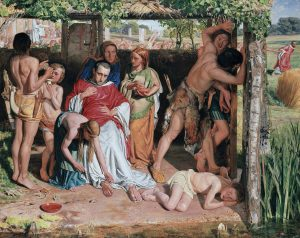 ドルイド僧の迫害からキリスト教伝道師をかくまう改宗したブリトン人の家族