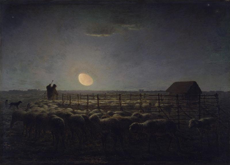 月明かりの羊小屋