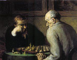 チェスを楽しむ人