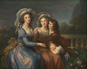 プゼ侯爵夫人とルージェ侯爵夫人とふたりの息子