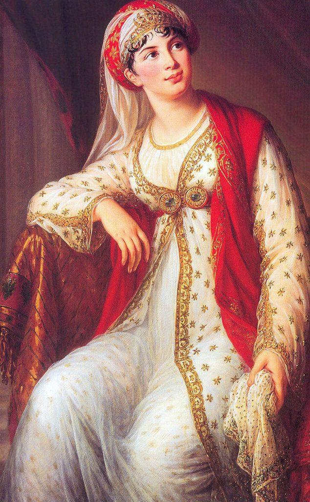ザイールに扮するジュゼッピーナ・グラッシーニ