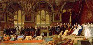 シャムの外交使節をフォンテーヌブロー宮に迎えるナポレオン3世