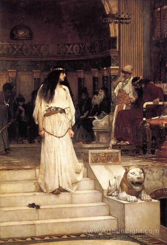 ヘロデ王の審判席を去るマリアムネ