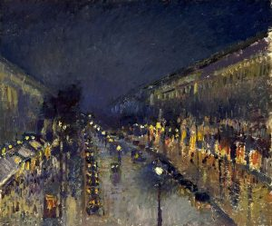 camille_pissarro_the_boulevard_montmartre_at_night_1897