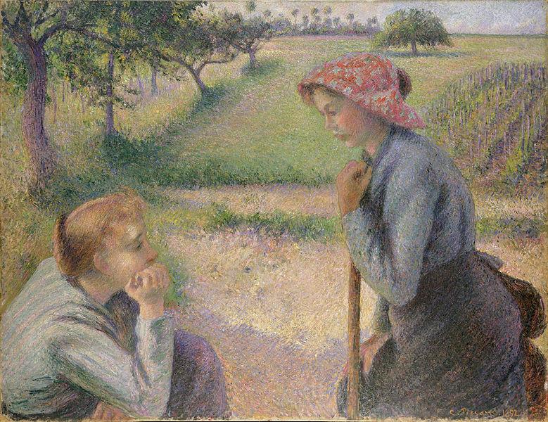 二人の若い農婦