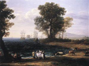 海岸風景とエウロパの略奪