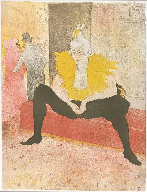 座る女道化師シャユカオ