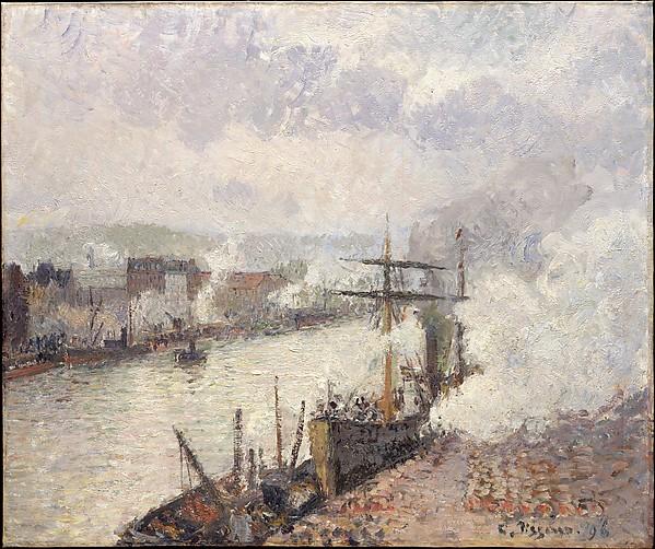 ルーアン港の蒸気船