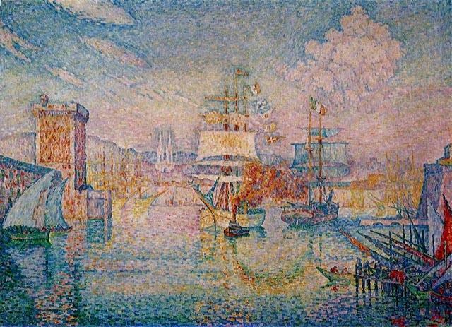 マルセイユ港の入口