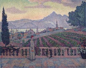 lady-on-the-terrace-signac