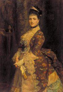 Mrs Bischoffsheim 1873 Sir John Everett Millais, Bt 1829-1896 Presented by Lady Fitzgerald 1944 http://www.tate.org.uk/art/work/N05572