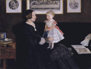 Mrs James Wyatt Jr and her Daughter Sarah c.1850 Sir John Everett Millais, Bt 1829-1896 Purchased 1984 http://www.tate.org.uk/art/work/T03858