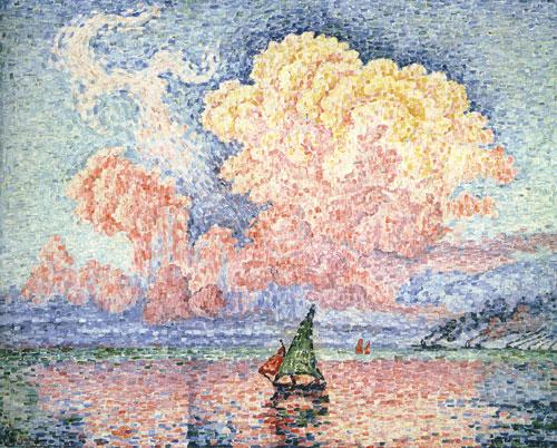 ピンク雲、アンティーブ