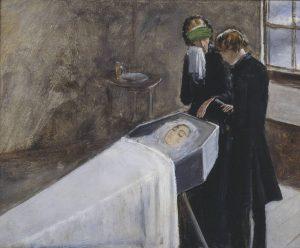 少女の喪に立ち会う画家