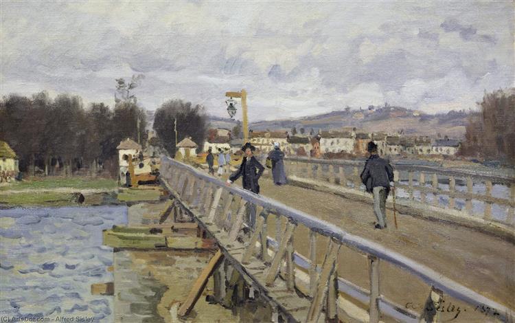アルジャントゥイユの歩道橋
