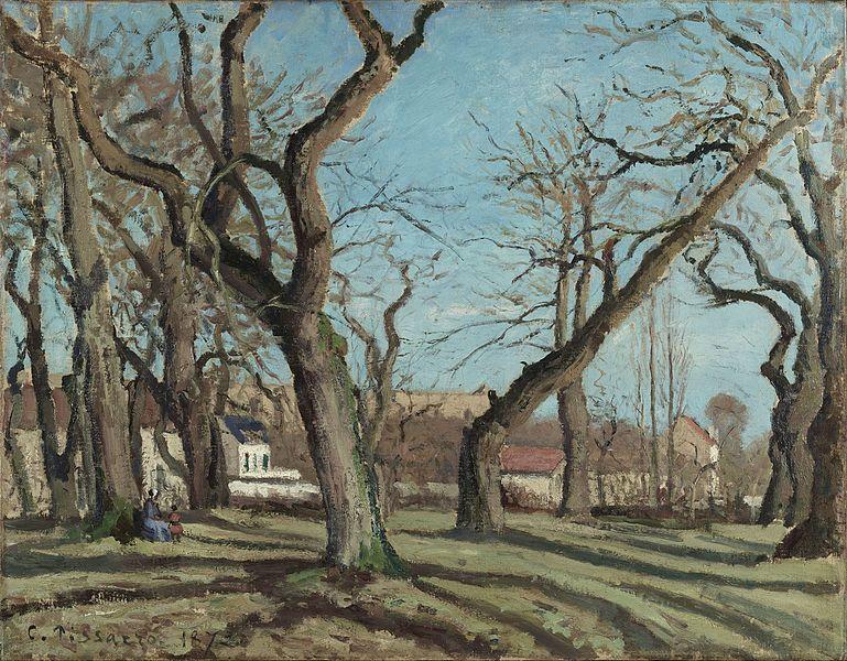 ルーヴシエンヌの栗の木立ち