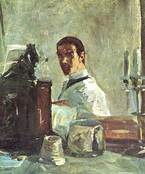 鏡の前の自画像