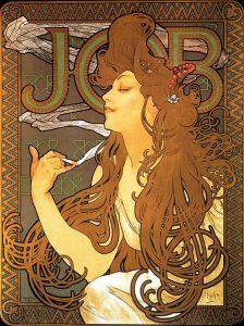 巻きタバコ用紙「ジョブ」のポスター