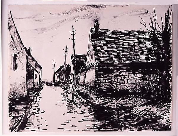 村の通り、ボワシー=レ=ペルシュ