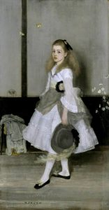 Whistler, James Abbott McNeill; Harmony in Grey and Green: Miss Cicely Alexander; Tate; http://www.artuk.org/artworks/harmony-in-grey-and-green-miss-cicely-alexander-202838