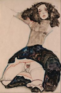 398px-egon_schiele_-_black-haired_girl_with_lifted_skirt_-_google_art_project