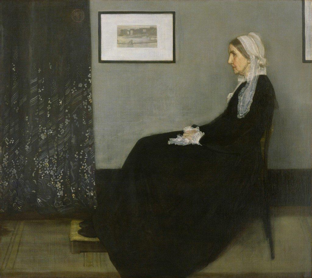 灰色と黒のアレンジメントNo.1-母の肖像