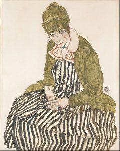 477px-egon_schiele_-_edith_with_striped_dress_sitting