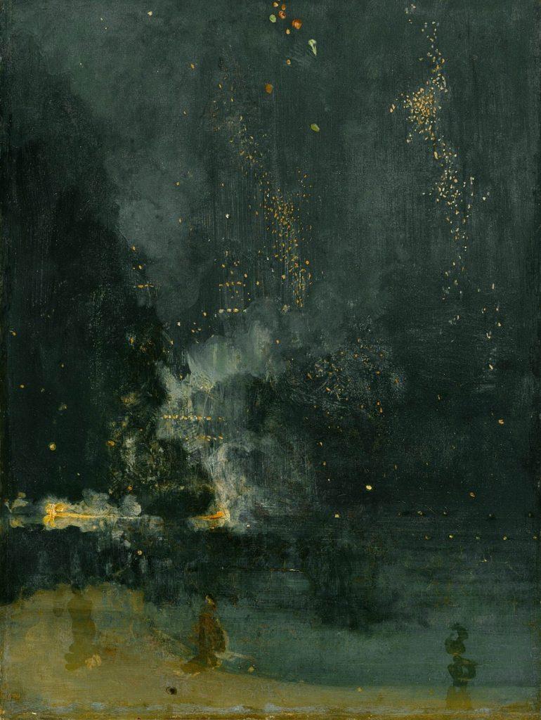 黒と金色のノクターン-落下する花火