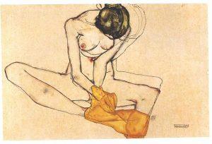 黄色いスカーフの少女