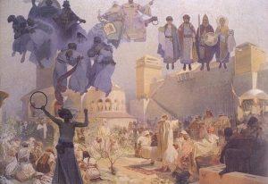 大ボヘミアにおけるスラヴ式典礼の導入:連作スラヴ叙事詩より