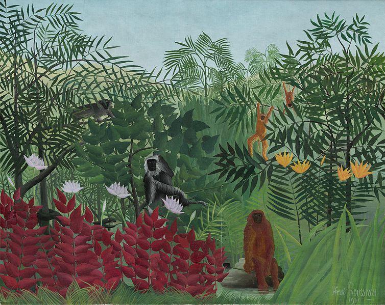 猿のいる熱帯林