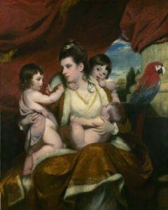 コバーン嬢と彼女の3人の息子達