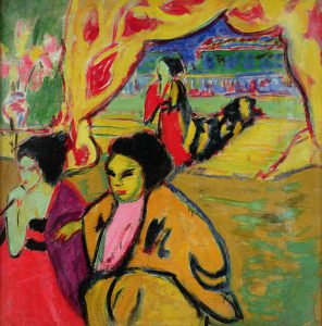 japanese-theatre-1909-oil-on-canvas-ernst-ludwig-kirchner