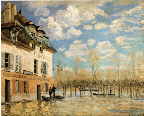 ポールマルリの洪水と小舟