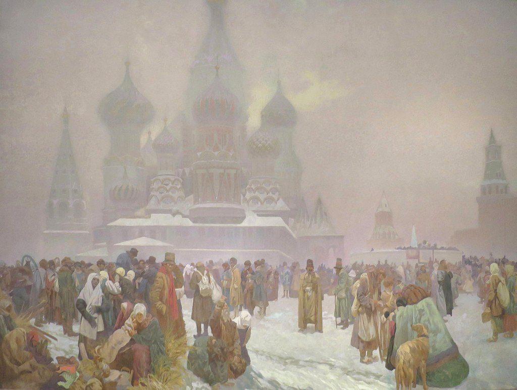 ロシアの農奴解放の日:連作スラヴ叙事詩より
