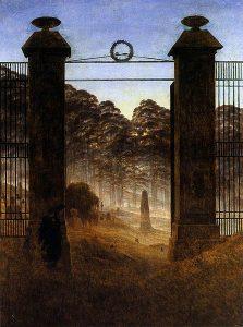 墓地の入り口