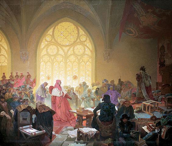 フス教徒の国王ボジェブラディのイジー:連作スラヴ叙事詩より