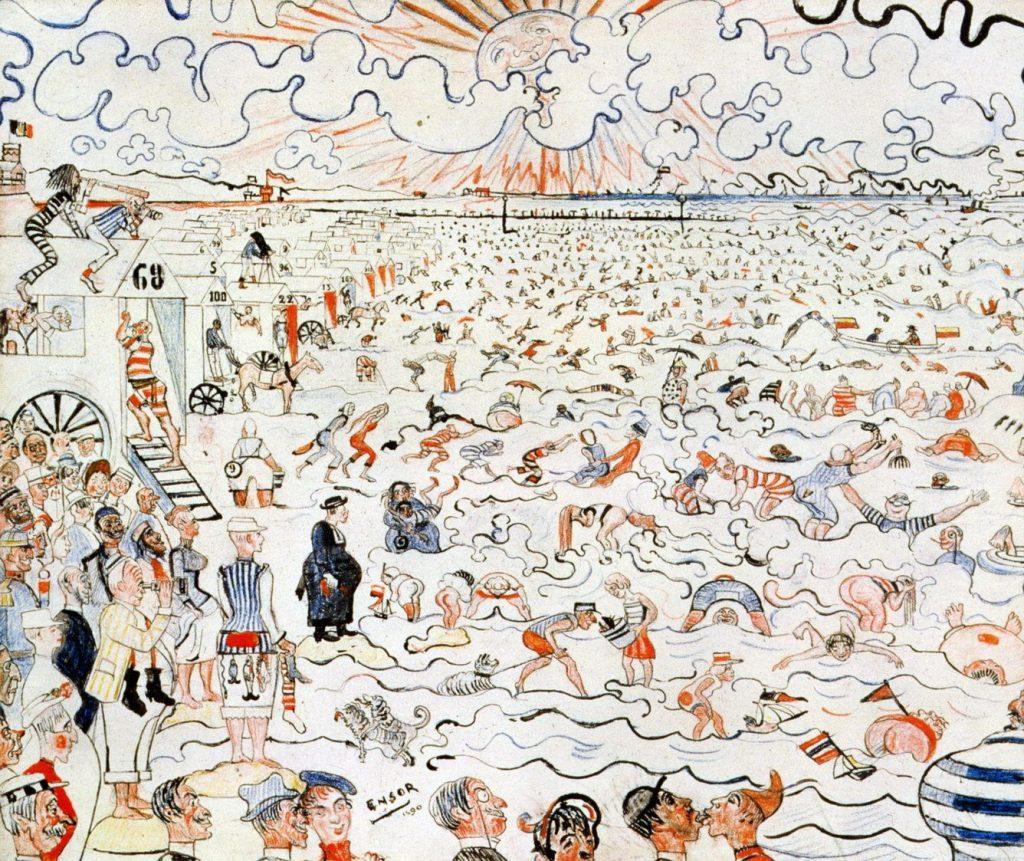 オーステンデの海水浴