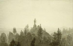 山の上の聖母像