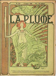 『ラ・プリュム』誌表紙(1897年8月号)