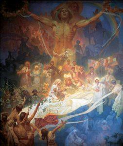スラヴの歴史の神格化:連作スラヴ叙事詩より