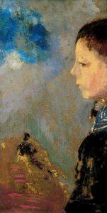 セーラー襟のアリ・ルドンの肖像