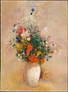 花瓶の花(ピンクの背景)