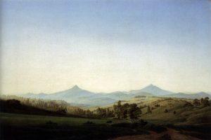 ミレシャウアー山のあるボヘミア風景
