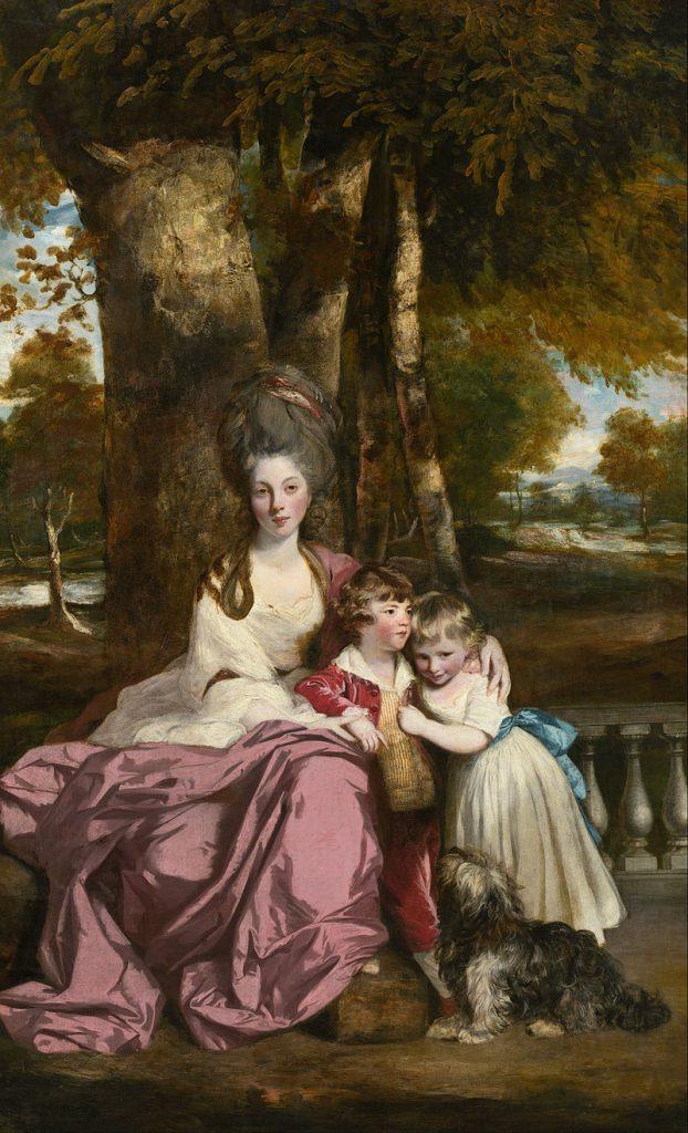 エリザベス・デルメ夫人と子供達
