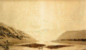 山と川の風景(朝)