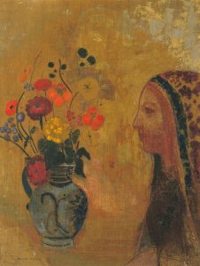Profile of a Woman with a Vase of Flowers c.1895-1905 Odilon Redon 1840-1916 Presented anonymously 1989 http://www.tate.org.uk/art/work/T05524